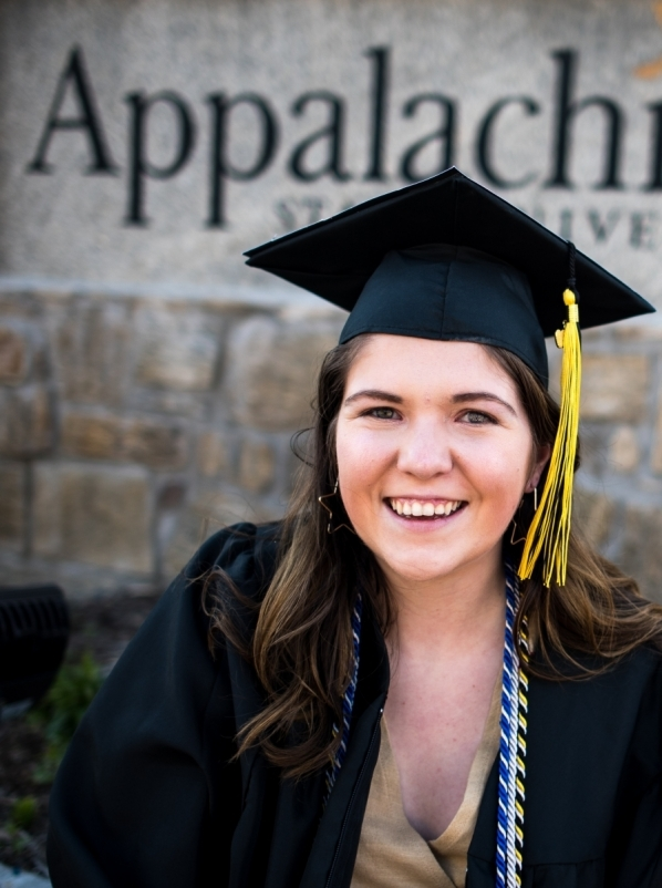 Allison Farrell in cap and gown