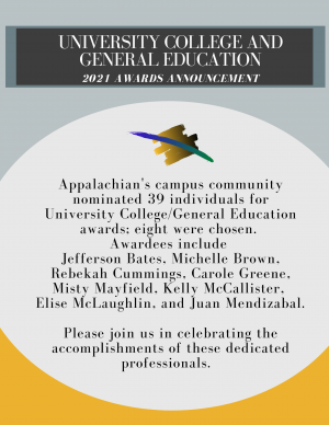 2021 University College and General Education Awards Announcement