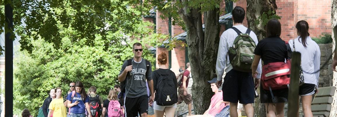 ASU students walking on campus