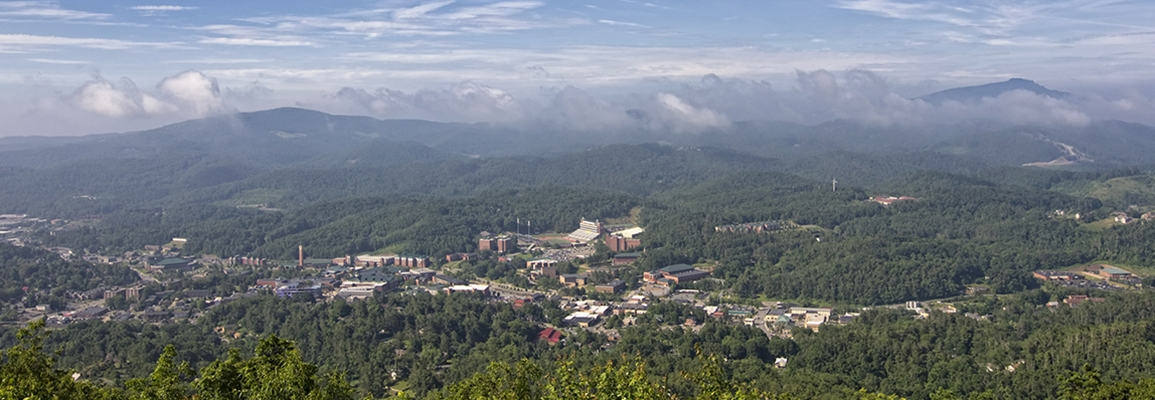 Appalachian State University view of campus
