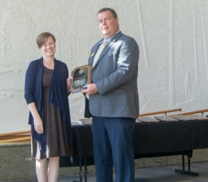 Pictured are Dr. Leah R. Hamilton and Dr. Mark Ginn